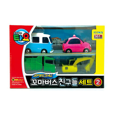 Tayo The Little Bus Friends Special Bongbong Heart Poco Max Mini 4pcs Set Toy