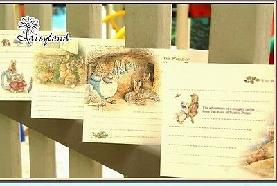 10Pcs Tale of Peter Rabbit Illustration Home Decor Print Postcard Art Gift Cards
