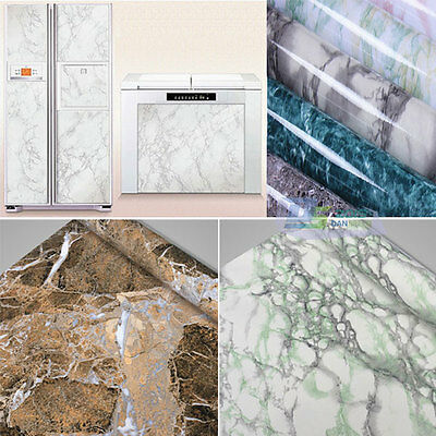 Marble Effect Look Counter Top Vinyl Self Adhesive Peel-Stick Wallpaper Sticker