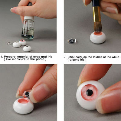 1/4 BJD MSD Acrylic eyes My Self Eyes - Default DIY 14mm eyes (No pupil)