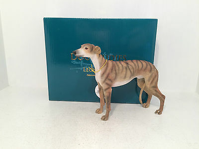 Dog Studies by Brindle Brown Tan Greyhound Figurine Ornament *BRAND NEW BOXED*
