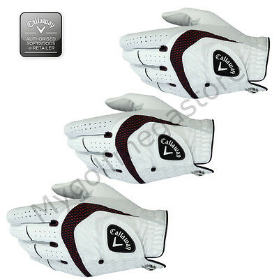 1,3 or 6 x Callaway Syn Tech Golf Glove Left Hand For RIGHT Handed Golfers New