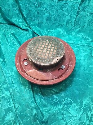 """4"""" Wade USA Made Tapped Cast Iron Floor Drain Nickel Bronze Top N H Connection"""