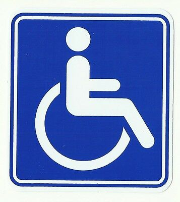 Autocollant Sticker Acces Handicape Handicap 11 X 10 Cms