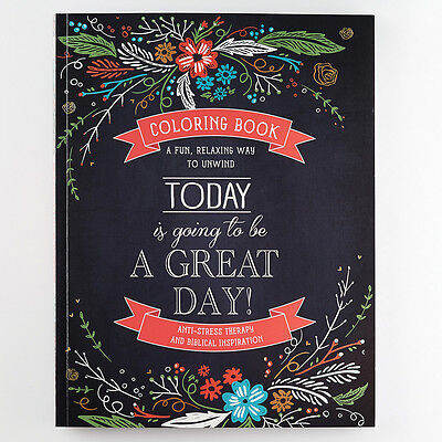 Christian Coloring Books For Adults Today Is Going To Be A Great Day Anti Stress