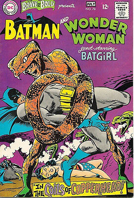 The Brave and the Bold Comic Book #78 DC Batman and Wonder Woman 1968 VERY FINE+