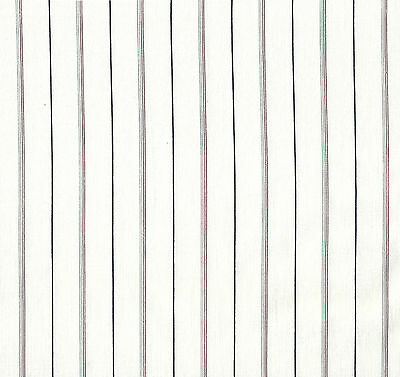 Antique 1900 Gray, Red & Black Stripes Shirting Fabric
