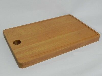 Extra Large BIG Wooden block chopping board cutting oak wood 12 x 19 inches T2