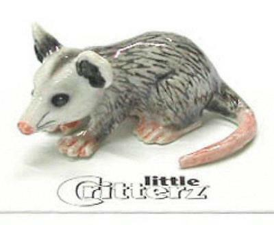 "Little Critterz Miniature Porcelain Animal Figure Opossum ""Thumbs"" LC134"