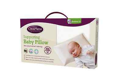 Clevamama Clevafoam Baby Pillow, Flat Head Syndrome Support Pillow, White