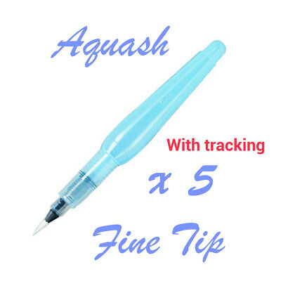 5 pc of Pentel Aquash Water brush pen Fine tip
