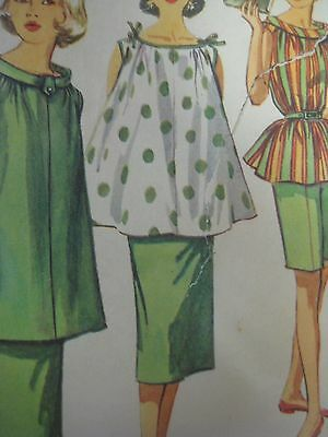 Vtg 50's Simplicity 1488 MATERNITY w/ BOWS ON SHOULDER Sewing Pattern Women Sz14