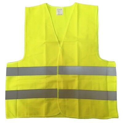 High Visibility Safety Yellow Vest with Reflective Strips Work Contruction XL