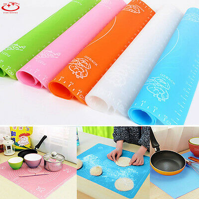 Silicone Rolling Cut Mat Fondant Clay Pastry Icing Dough Cake Tool Sugarcraft YM