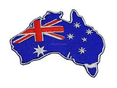 Australian Souvenir Iron Sew Stitch On Embroider Australia Map Flag Badge Patch
