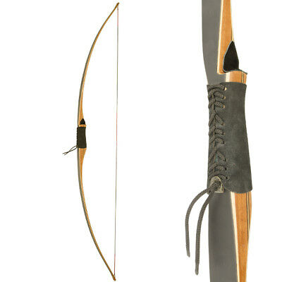 Apex Heritage - 1 Piece Wooden Longbow - Traditional Archery - 68 Inch - + Felt