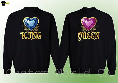 Couple Crewneck - King And Queen - His and Hers NEW Design Matching Sweatshirt