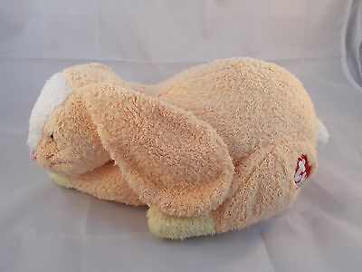 "Ty Rattle Rabbit Orange Honeybunny PillowPals Plush 12"" Long"