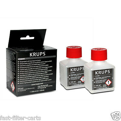 KRUPS XS9000 for cappuccino milk systems - liquid cleaner - 2 x 100ml