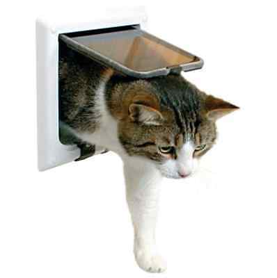 Cat Door Flap 4 Functions Safety Magnetic Lock Secure Quiet Pet Small Dog Puppy