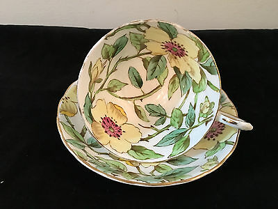 """Vintage Tuscan Bone China """"dogwood"""" Cup And Saucer Made In England"""