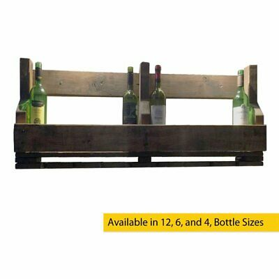 Handmade Rustic Solid Wood Reclaimed Wine And Glass Rack Unique, Stylish, Robust