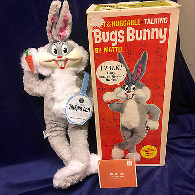 Mattel Talking Bugs Bunny. Clean As Can Be And Talks/box