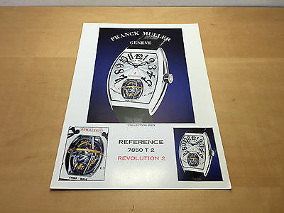 Used in shop - Press Kit FRANCK MULLER Ref. 7850 T 2 REVOLUTION 2 - French Usado