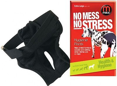 Mikki Dog hygiene pants Mikki bitch on heat or in season elasticated waist all s