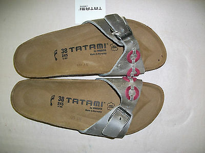 Reduced - Tatami By Birkenstock - Madrid - Grey Leather Rrp $134 Save $49