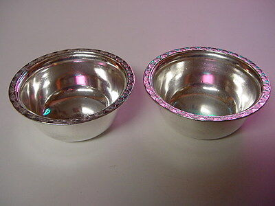 SS UNITED STATES LINES  Pair of Silver Finger Bowls