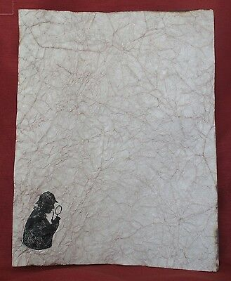 Sherlock Holmes Pages on Antiqued Paper - 10 Sheets