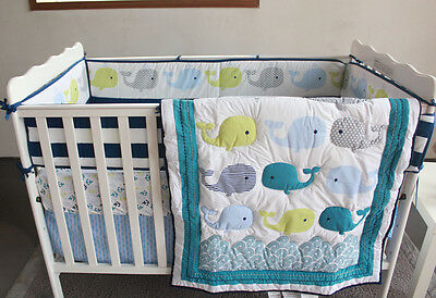 NEW Baby Cot Bedding Sets 7 PCs - Quilt Bumper Fitted Sheet 157-4