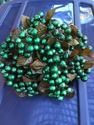 22 Piece Green Berry Lot~Christmas Decoration~Wreath Making~New Old Stock~NOS