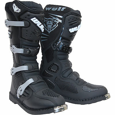 Wulf Track Star Motocross Boots Off Road Sports Leather Bike ATV WITH FREE GIFT