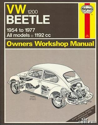 VW Beetle Haynes Workshop Manual - 1200cc