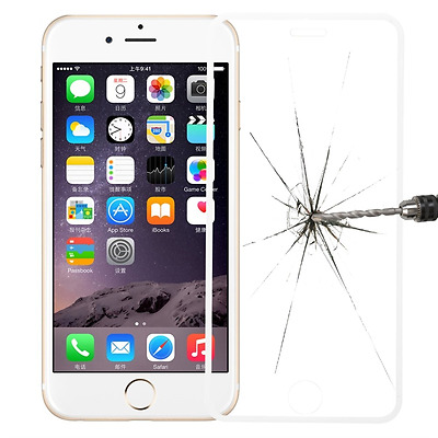 Tempered Genuine Glass Screen Protector Edge to Edge White for iPhone 6s Plus