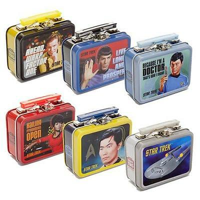 "STAR TREK TOS Licensed 3"" MINI Metal TEENY TINS Lunchbox - 6 Styles Available"