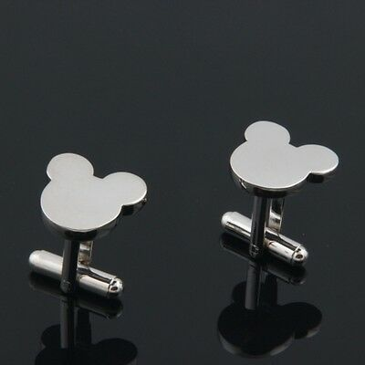 NEW Men`s Boy Wedding Party Gift Mickey Mouse Fashion Cufflinks + GIFT