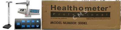 Health-O-Meter 500KL Digital Medical Scale With Height Rod BMI 500Lb New Box USA
