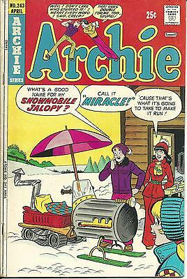 ARCHIE Bronze Age : Archie #243 (Dan DeCarlo) Harry Lucey (Betty & Veronica)