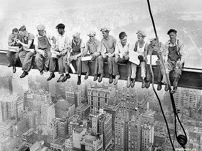 Lunch On A Skyscraper Men On Girder Sleeping  Poster New York A2 SIZE