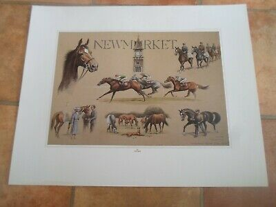 Print ~ Horse Racing Newmarket Thoroughbred Capital of the World By Tiptaft