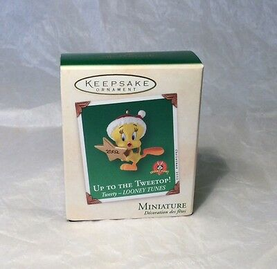 "Hallmark ""Up to the Tweetop"" Tweety Miniature Ornament 2002"