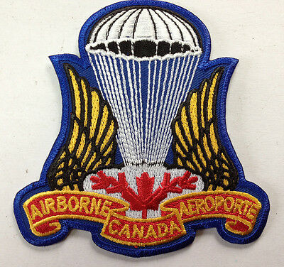 Canadian Airborne Parachutist Jump Patch Crest Insignia Large Full Colour #24650