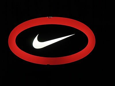 Rare Nike Lighted Swoosh Sign Shoe Store Display Retail Dealer Promotional