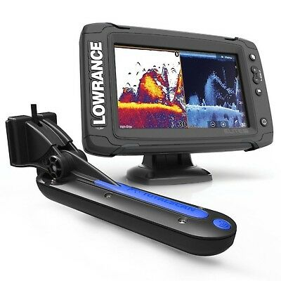 Lowrance Elite 7Ti Chartplotter / Fishfinder with Totalscan skimmer transducer