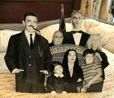 "The Addams Family Cast TV Show Figure Tabletop Display Standee 8"" Long"