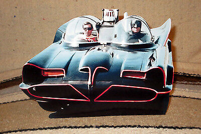 Batman & Robin W- Batmobile 60's TV Show Figure Tabletop Display Standee 9 1/2""