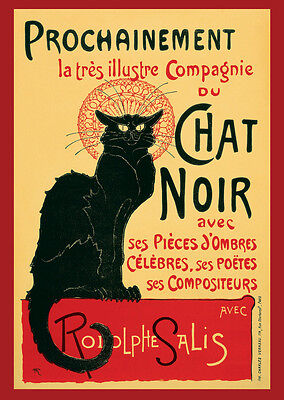 A3 Size - le chat noir FRENCH the black cat Poster for Wall / Decoration  #36
